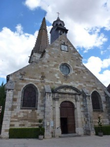 de RK kerk in Nolay - Bourgogne