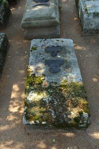 het graf van meester Frantz op het Rochusfriedhof in Neurenberg