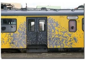 de trein die bij De Punt was gekaapt